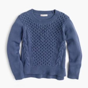 J.Crew Crewcuts Blue Cable knit sweater Size 16